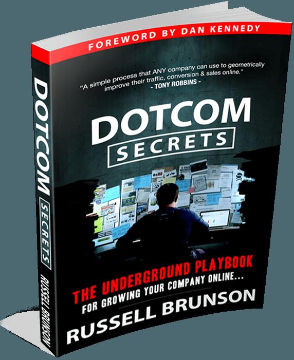 Le livre DotCom Secrets de Russell Brunson