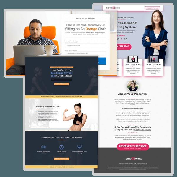 Exemple de Design avec ClickFunnels
