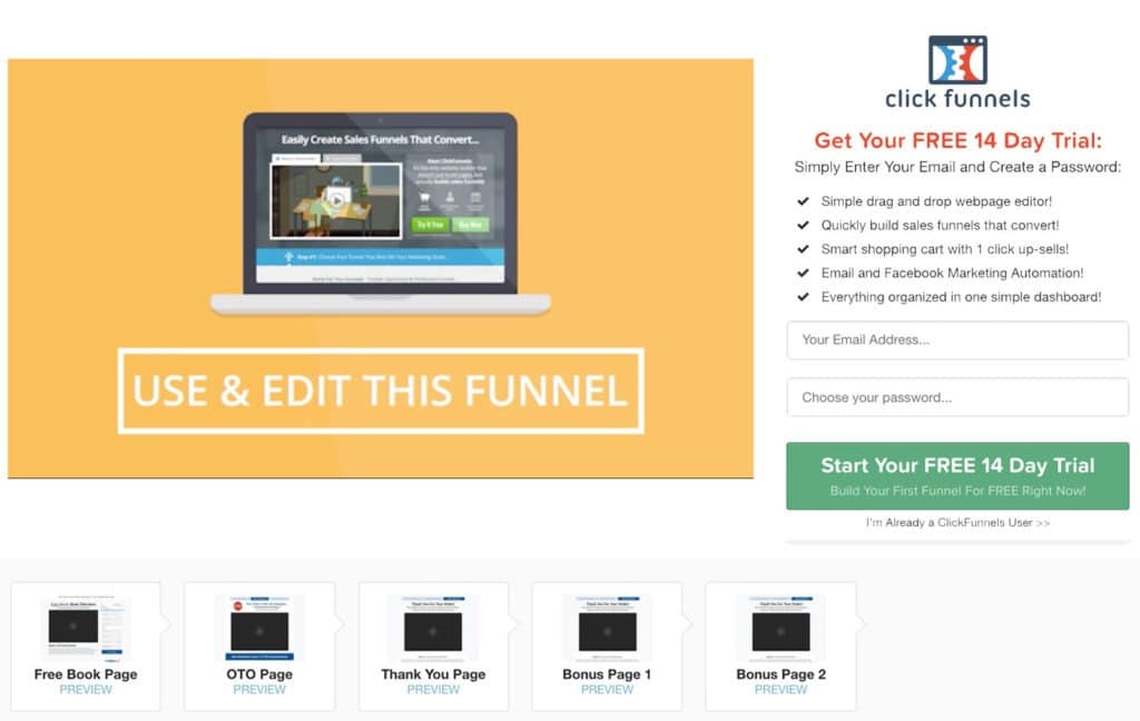 ClickFunnels option Share Funnels