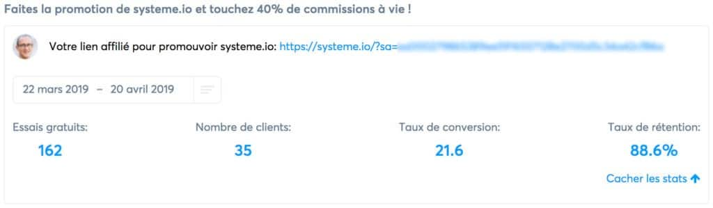Lien d'affiliation Systeme.io