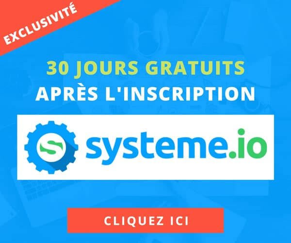 Systeme.io tarifs : 30 jours gratuits