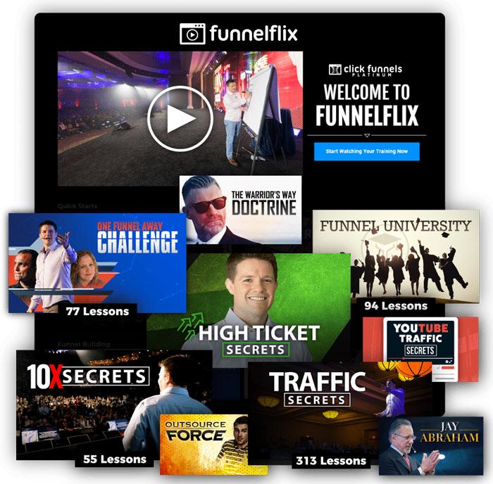 Funnelflix, le Netflix pour Entrepreneur