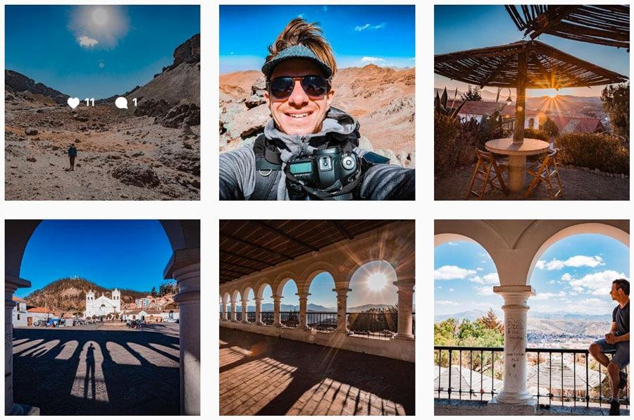 Photo de Damien Menu lors d'un voyages en Bolivie