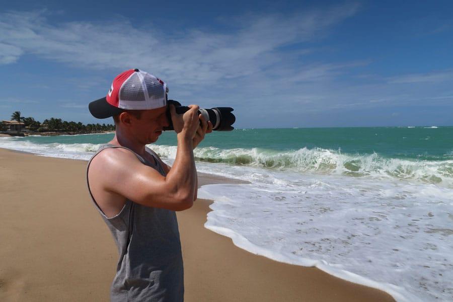 Damien Menu lors d'un voyage au Brésil