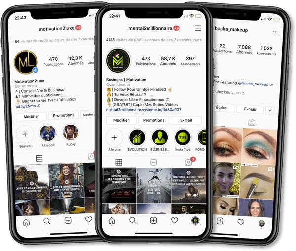 Flavien gère plusieurs Instagram dont le compte Mental2Millionnaire