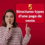 5 structures d'une page de vente